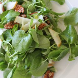 Watercress Salad with Shaved Fennel and Pears