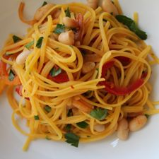 Linguini with Peppers and Sweet Onions