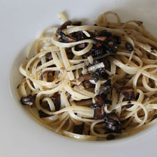 Linguine with Portabella Mushrooms (Gluten Free)