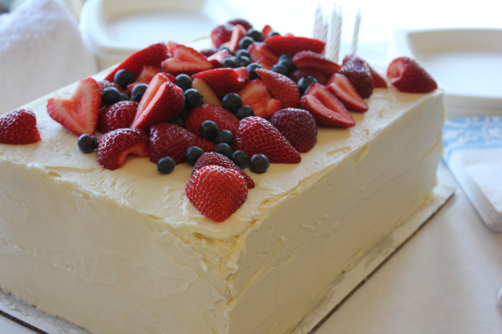 Vanilla Layer Cake with Fresh Berries ©2012 The Conscious Kitchen
