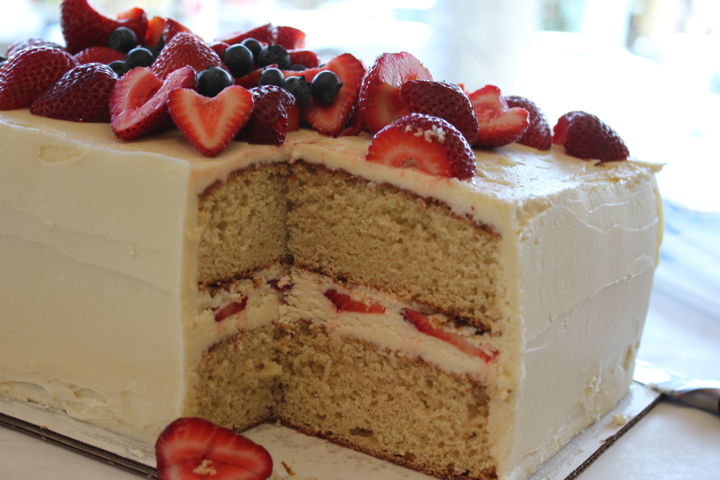 Orange Layer Cake With Buttercream Frosting And Berries Recipes ...
