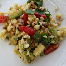 Grilled Corn Salad with Avocado and Vine Ripened Tomatoes