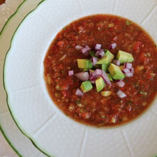 Gazpacho of Fresh Summer Vegetables