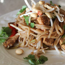 Pad Thai Noodles (vegan and gluten-free)