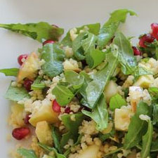 Apple and Pomegranate Salad with Wild Arugula and Toasted Millet