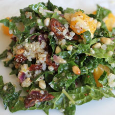 Kale Salad with Quinoa, Citrus, and Sundried Tomatoes