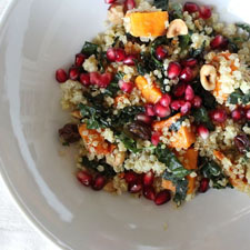Quinoa with Roasted Butternut Squash and Kale