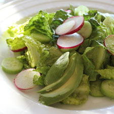 Crisp Salad with Green Goddess Dressing