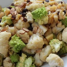 Romanesco Cauliflower with Parsnips and Raisins