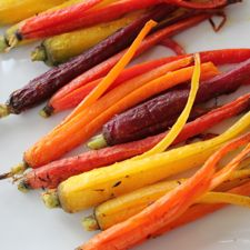 Roasted Rainbow Carrots  © The Conscious Kitchen