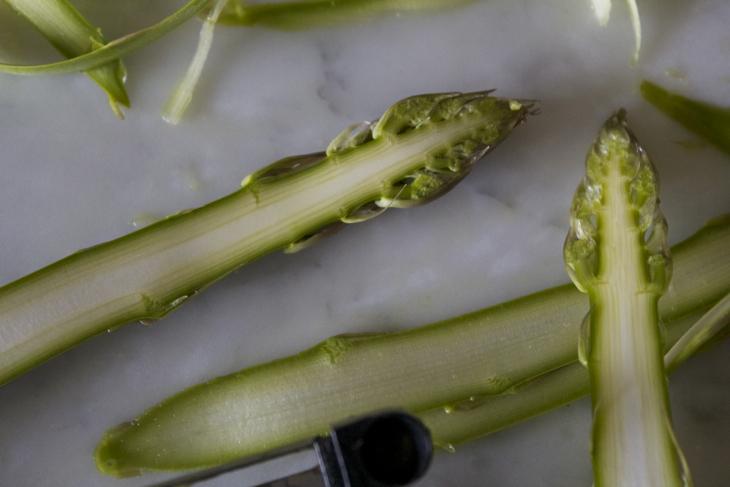 Asparagus, Farro, Shallots, Lemon