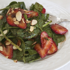 Baby Spinach Salad with Strawberries and Aged Balsamic