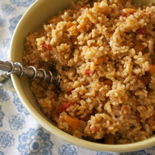 Vegan Mexican Style Brown Rice ©2013 The Conscious Kitchen
