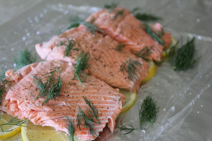 pics Cold Poached Salmon with Dill Sauce and Potato Salad