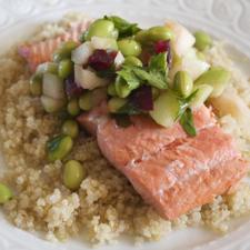 Perfect Poached Salmon ©2013 The Conscious Kitchen