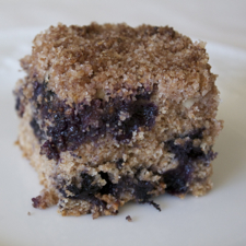 Blueberry Crumb Cake (vegan)