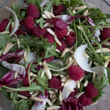 Insalata Tre Colori with Raspberries ©2014 The Conscious Kitchen image3