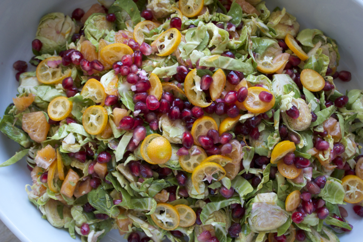 Pomegranate and Citrus Salad with Brussels Sprouts | The Conscious ...