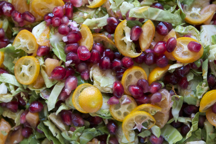 Pomegranate and Citrus Salad with Brussels Sprouts   The Conscious ...