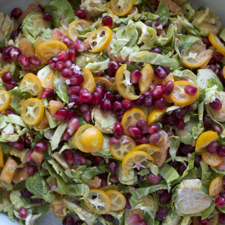Pomegranate and Citrus Salad with Brussels Sprouts
