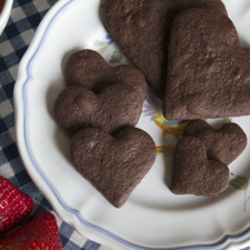 Valrhona Chocolate Shortbread Cookies