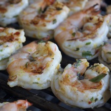 Zesty Grilled Shrimp ©2014 The Conscious Kitchen