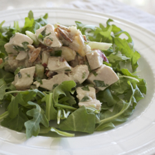 Poached Chicken Salad with White Nectarines
