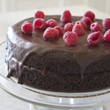 Chocolate Buttermilk Blackout Cake (with vegan adaptation)