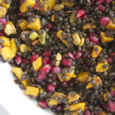 Salad of Beluga Lentils with Roasted Butternut Squash