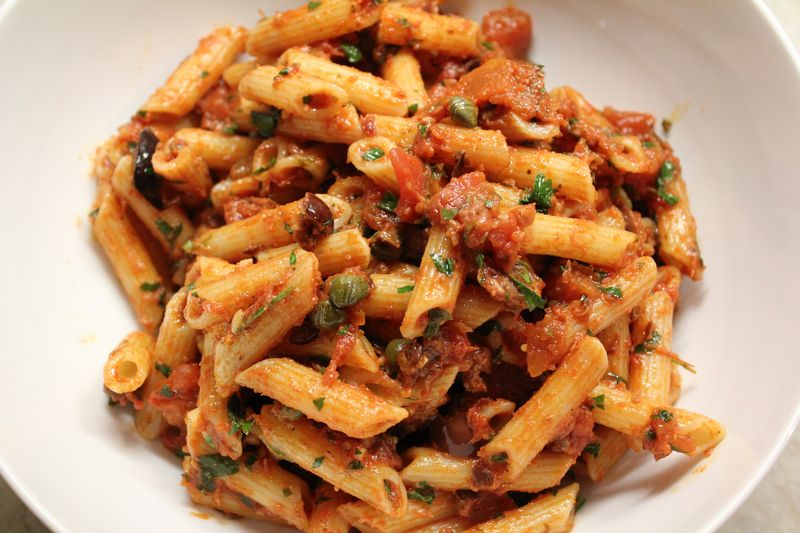 Penne Puttanesca | The Conscious Kitchen