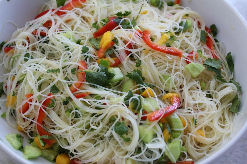 Cucumber and Mango Sunomono Salad with Rice Noodles | The Conscious ...