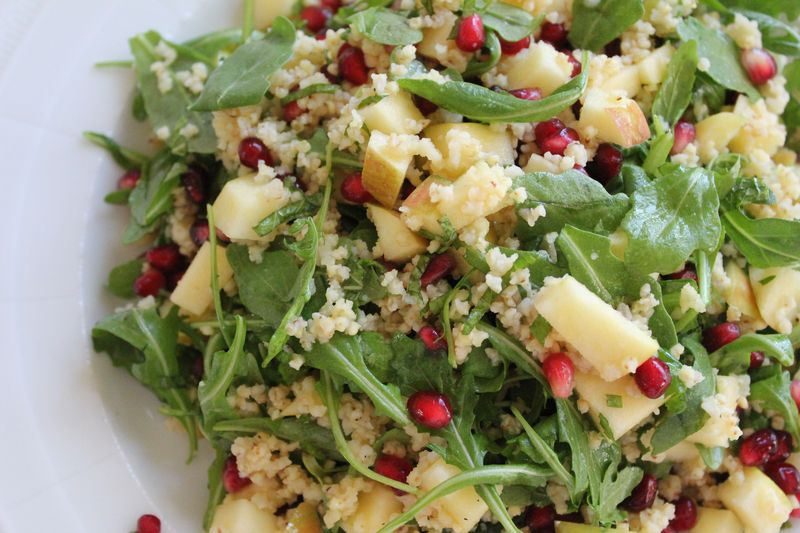 Apple and Pomegranate Salad with Wild Arugula and Toasted Millet   The ...