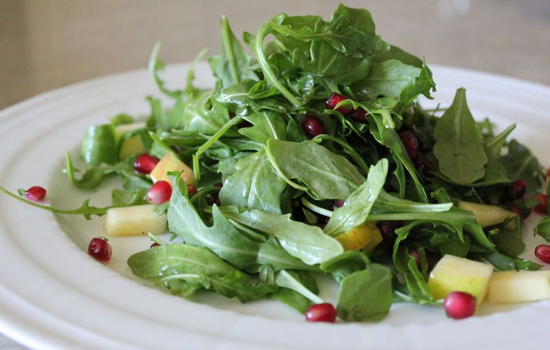Apple and Pomegranate Salad with Wild Arugula and Toasted Millet | The ...